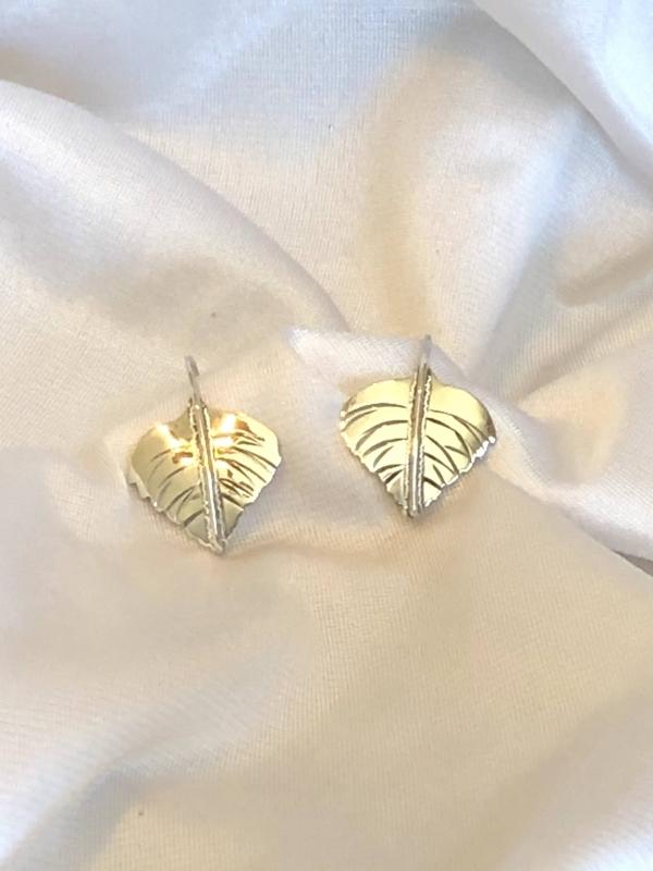Sterling Silver Aspen Leaves