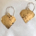 Hammered Red Brass Aspen Leaf Earrings