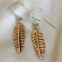 Copper Feather Earrings - small