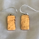 Hammered Copper Block Earrings