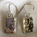 Sterling Silver Hammered Block Earrings