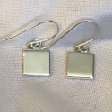 Sterling Silver Square Earrings- small