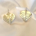 Stamped Sterling Silver Aspen Leaf Earrings