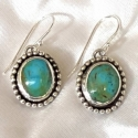 Sterling Silver & Kingman Turquoise Earrings