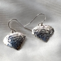Hammered Sterling Silver Aspen Leaf Earrings