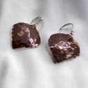 Hammered Copper Aspen Leaf Earrings