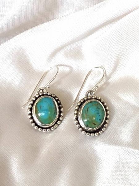 Sterling Silver & Kingman Turquoise Earrings