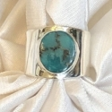 Sterling Silver and Kingman Turquoise Adjustable Ring