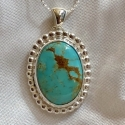 Sterling Silver and Kingman Turquoise Pendant