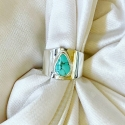 Sterling Silver and Turquoise Cigar Band Pinky Ring