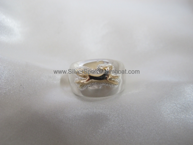2toned dome fox ring