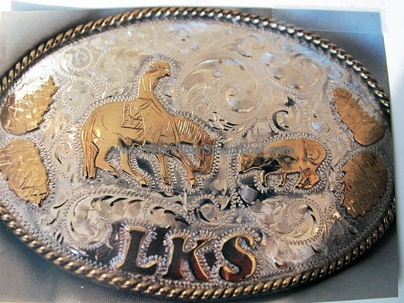 Sterling Silver w/14K gold custom trophy Buckle