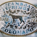 Sterling Silver and 14k gold custom Trophy Buckle