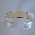 Sterling silver and 14k gold Mountain Bracelet