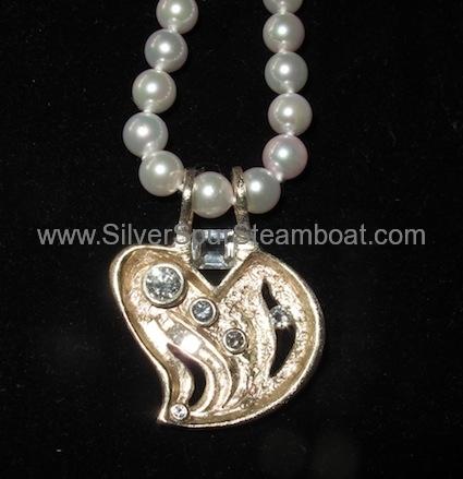 14k gold diamond abstract pendant