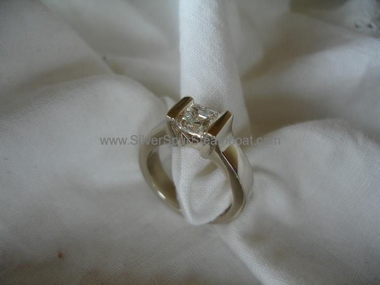 14k Ascher Engagement ring