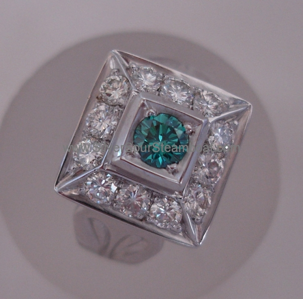 Pagoda Diamond ring