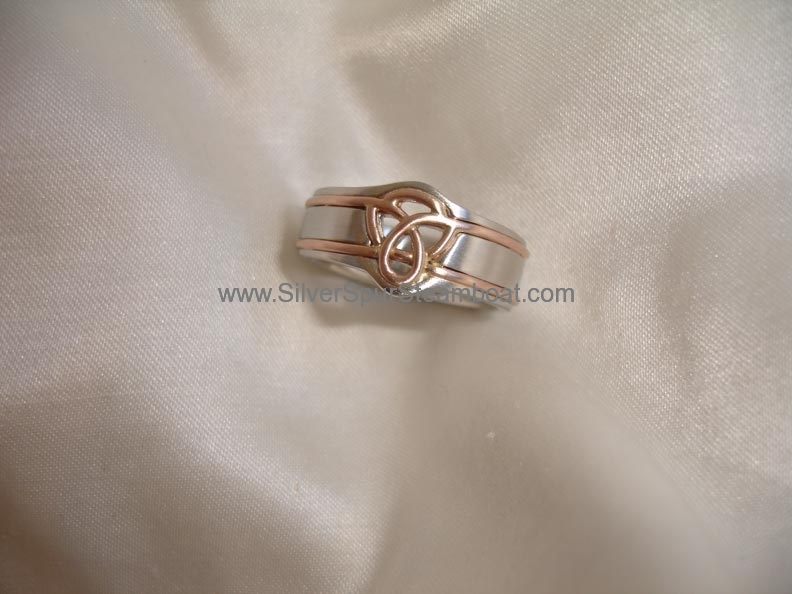 Platinum and 18k rose gold Man's wedding band