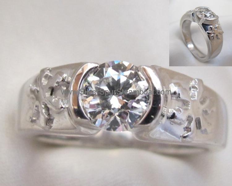 snowflake 14k Diamond Engagement ring