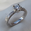 14K white engagement ring