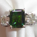 Tourmaline Diamind 14kW engagement ring