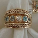 14K yellow Mothers ring