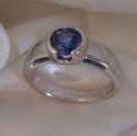 Sapphire 14k White engagement ring