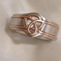Platinum and 18k rose gold Man's wedding band
