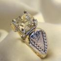 14K yellow and radiant diamond engagement ring