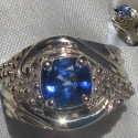 14k White gold Sapphire ocean ring