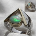 Opal and Diamond 14K ring