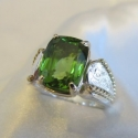 Burma Peridot Saddle Ring