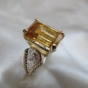 Golden Citrine Saddle Ring