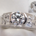 snowflake 14k Diamond Engagement ring