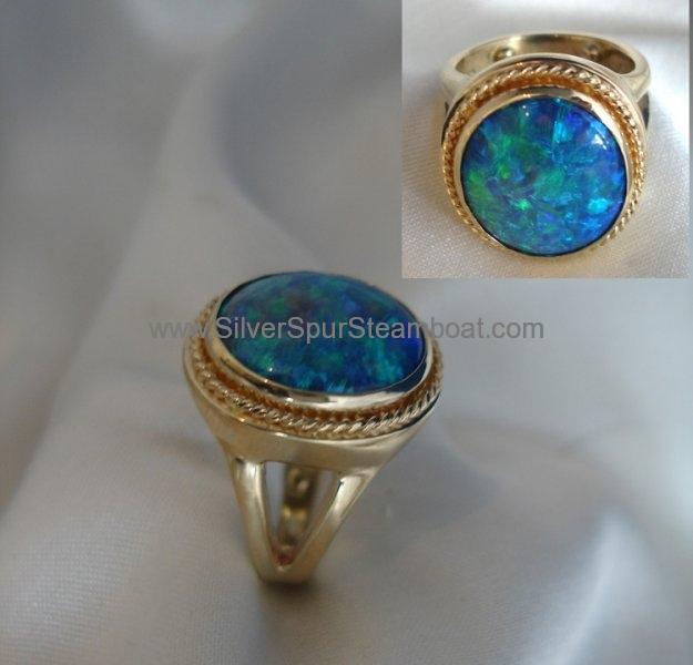 Opal Ring 14k yellow