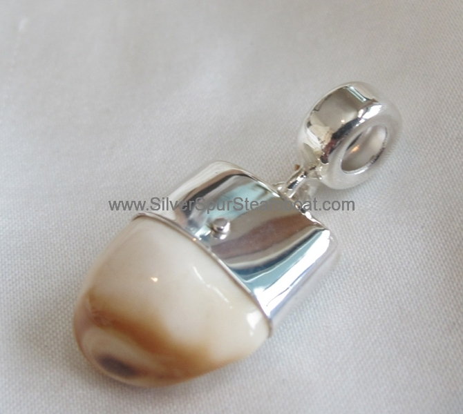 Elk tooth Ivory Charm style