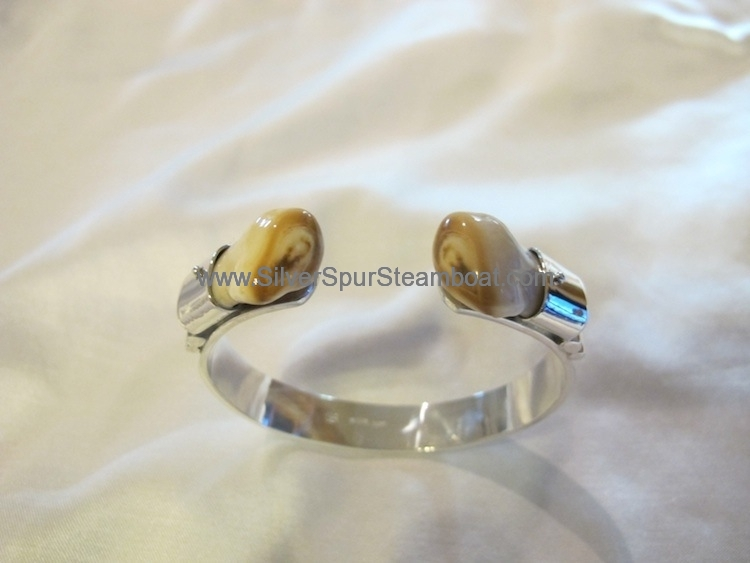 Sterling Silver Elk tooth cuff