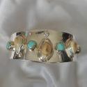 turquoise-diamond-elk-tooth-ivory-bracelet
