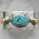 turquoise-elk-tooth-ivory-mans-cuff-bracelet