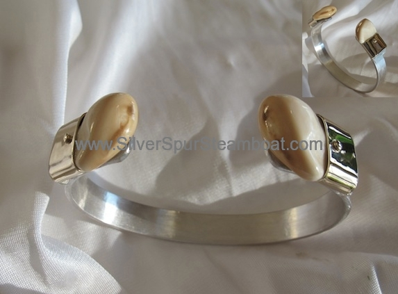 Sterling silver with 14k gold cuff