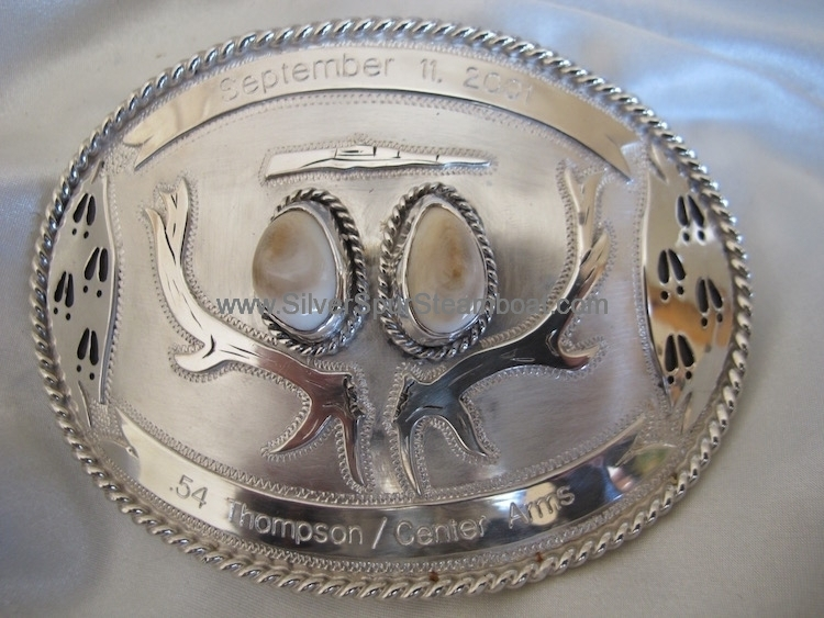 Custom Trophy Elk Ivory Buckle