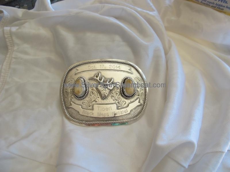Elk Ivory Trophy Buckle