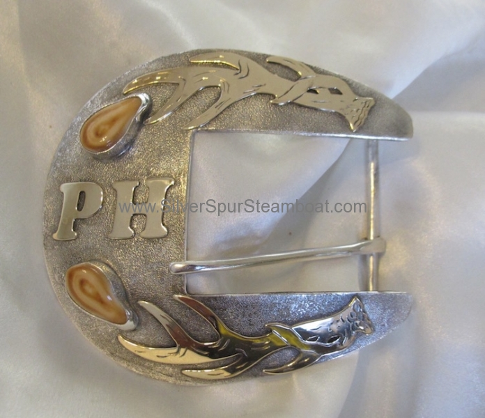 Sterling and 14k Gold LG Buckle
