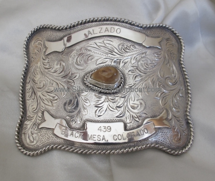 Large Custom Elk Ivory Trophy Buckle