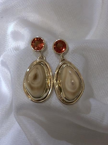 Spessarite-earrings