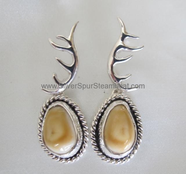 elk antler earring