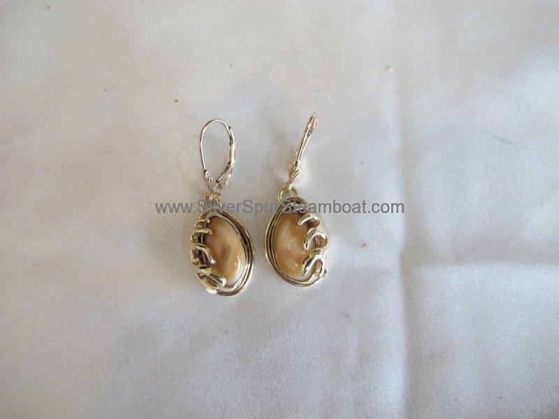 cast antler earrings