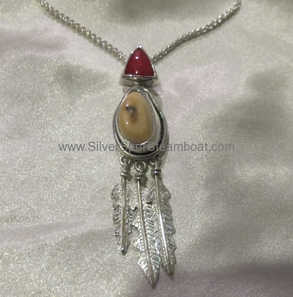 Coral Ivory Pendant