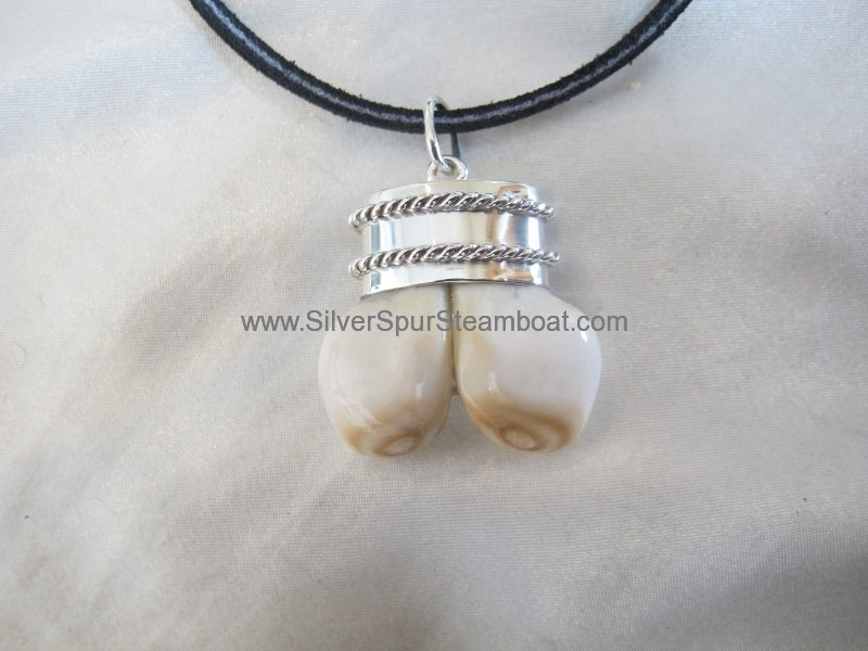 Double Ivory Capped Pendants
