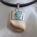 #8 Turquoise Capped Pendant
